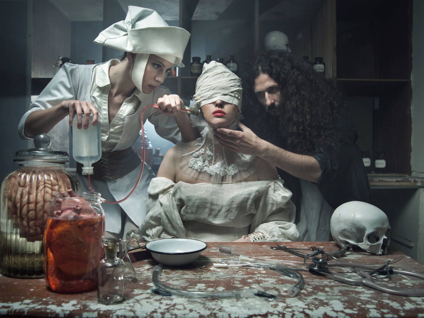 Frightening methods of healing in the old haunted hospital